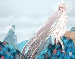 Ghost lurking on a mountain by hatthecat123