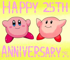Kirby's 25th Anniversary by The-Shiny-Jirachi