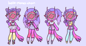 Outfit set - Wisteria by hello-planet-chan