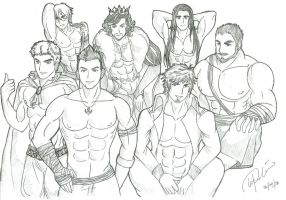 Male Characters by GilliamIvonLantford