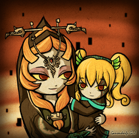.:Secret Santa: Midna and Ruli by Anilede