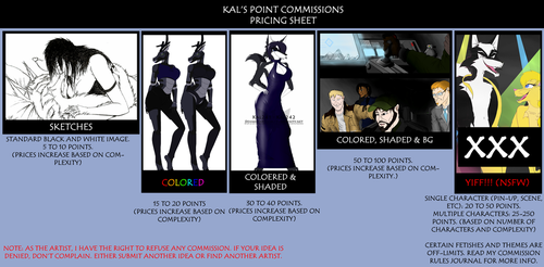Point Commissions Price Sheet by Kal241