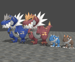 XPS Pokemon X and Y - Tyrunt and Tyrantrum