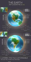 Earth infographic America Part Download by kadayoub