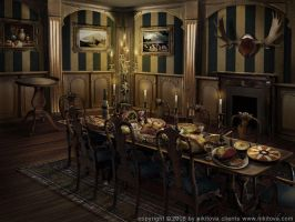 Sleepy Hollow. Dining room by Katie-Watersell