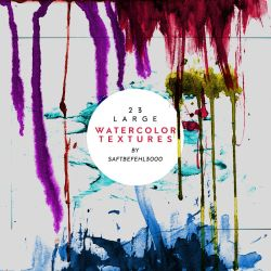 23 Large Watercolor Textures / 02 by saftbefehl3000