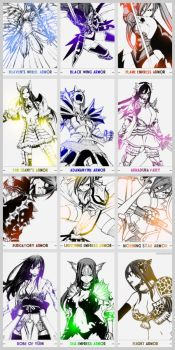 Erza's Armors by Flames-Keys