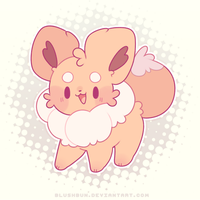 normal type, eevee! by blushbun