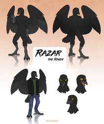Razar the Raven by Rikkoshaye