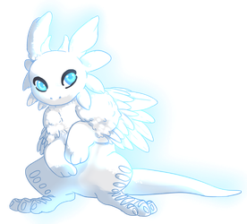 Little Glowy Creature by SaturnGalaxy