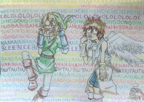 Link and Pit has gone crazy by Hukkis