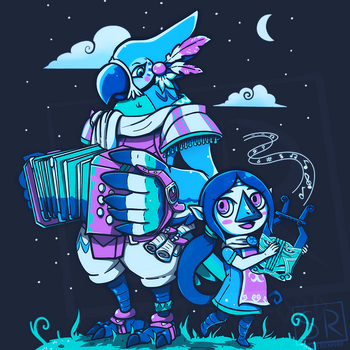 Bird Bards Night Version - Kass and Medli by SarahRichford