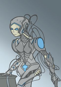 Robo Girl by Justicity-Comics