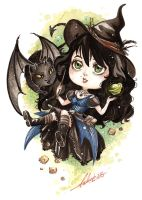 COMM Chibi ~ Magic is Everywhere by Calicot-ZC
