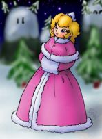Princess Peach in Winter by EJW