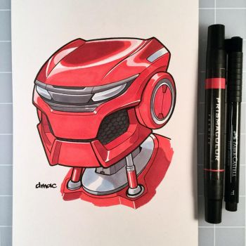 March of Robots Day 21: Honda Civic Bot by D-MAC