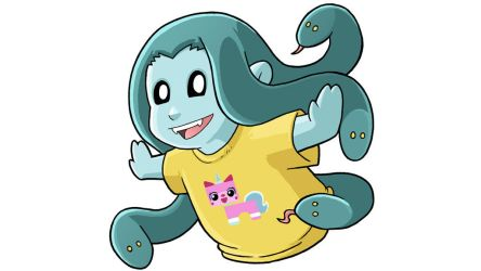 Modest Medusa in Unikitty shirt by JakeRichmond