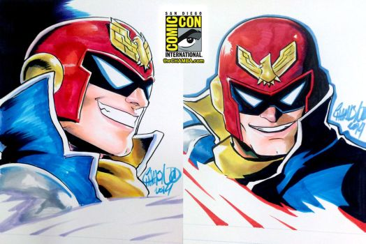 SDCC 05 - Captain Falcon x2 by theCHAMBA