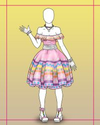[OPEN] Fashion Adopt 2 - Easter Egg Dress 800p by Lyrizel
