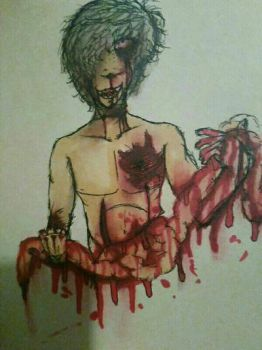 Copic/Sharpie Gore by RE-Dx