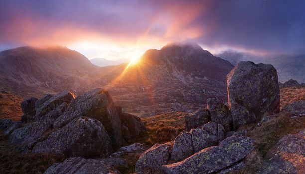 Glyder Fach and Tryfan by Alex37