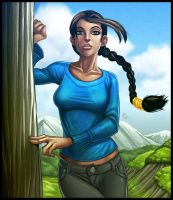 Commission: Lara Croft Casual by ExMile