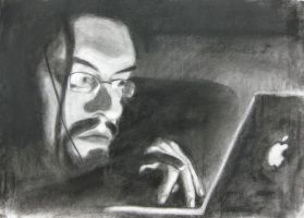 Self-Portrait, in charcoal by JoeCrow9