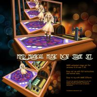 MMD Magical Music Box Stage Set by Trackdancer