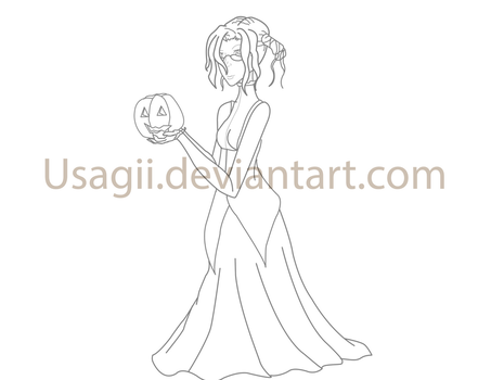 WHR Halloween Lineart by Usagii