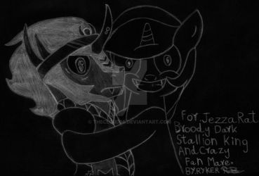 Broody Dark Stallion King and Crazy Fan Mare Chalk by THECLOUD96