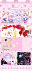 Sailor Moon Pack: 100 Watchers! by hanakotoba-amaririsu