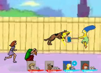 CF resquest Scooby and Shaggy vs. Daphne and Marge by SuperMaster10