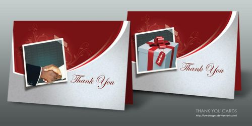 THANK YOU CARDS by owdesigns