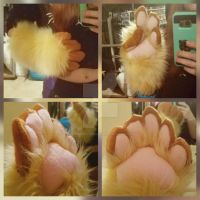 Bear Halfsuit Commission WIP: Handpaws  by RageandRoarCustoms