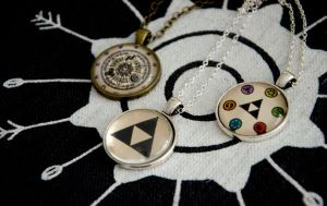 The Legend of Zelda inspired pendants by Kattvalk