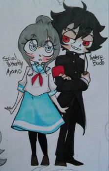 Social butterfly Ayano/ Yandere budo by TheRejectedCulb