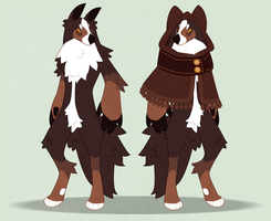 bernese mountain werewolf adoptable CLOSED by Shegoran