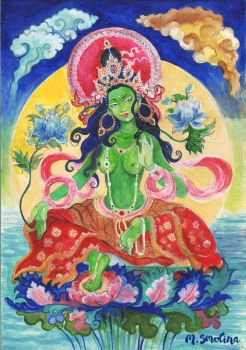 Green Tara by tooniegirl