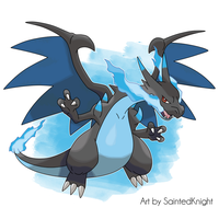 Mega-Charizard X by SaintedKnight