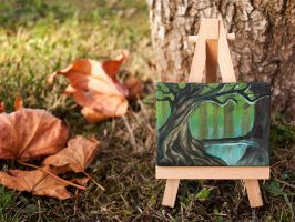 Fantasy forest mini painting by RUGIDOart