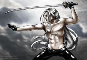 Approaching Storm - Sephiroth by albyon
