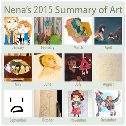 2015 Summary of Art by FrostedWatercolor