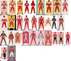 Red Ranger Collage by AdrenalineRush1996