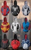 Spider-Man Hoodies by lumpyhippo