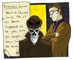 Rorschach and Nite Owl. by Kaek01