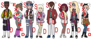 Mixed 80's Inspired Naruto Adoptables - CLOSED by mistressmaxwell