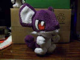 Chibi Rattata plush 1 by DarkDragonKai