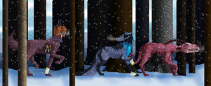 Out hunting (Contest entry) by Femaledragonknight