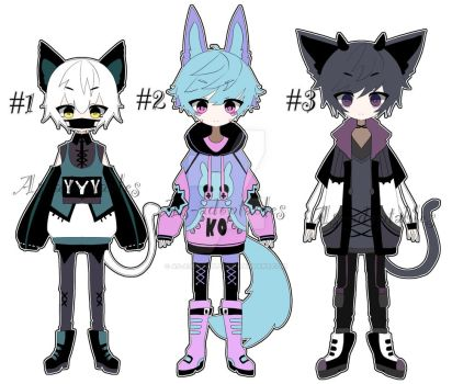 nekomimi adoptable batch CLOSED by AS-Adoptables