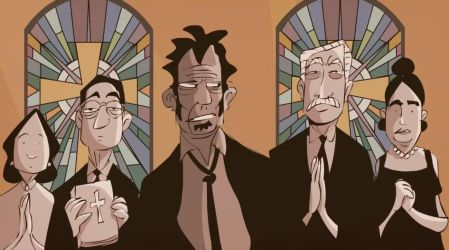 Tom Waits in church by Patrick Smith. by PatSmith
